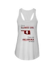 ILLINOIS GIRL LIVING IN OKLAHOMA WORLD Ladies Flowy Tank thumbnail