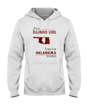 ILLINOIS GIRL LIVING IN OKLAHOMA WORLD Hooded Sweatshirt thumbnail