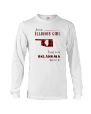 ILLINOIS GIRL LIVING IN OKLAHOMA WORLD Long Sleeve Tee thumbnail