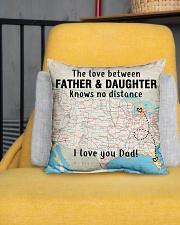 "MICHIGAN FLORIDA FATHER DAUGHTER I LOVE DAD Indoor Pillow - 16"" x 16"" aos-decorative-pillow-lifestyle-front-01"