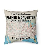 "MICHIGAN FLORIDA FATHER DAUGHTER I LOVE DAD Indoor Pillow - 16"" x 16"" back"