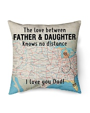 """MICHIGAN FLORIDA FATHER DAUGHTER I LOVE DAD Indoor Pillow - 16"""" x 16"""" front"""