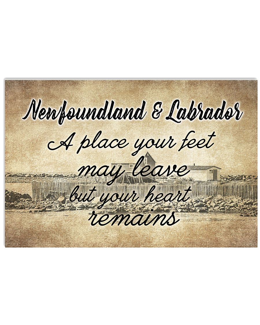 NEWFOUNDLAND LABRADORS PLACE YOUR HEART REMAINS 24x16 Poster