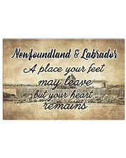 NEWFOUNDLAND LABRADORS PLACE YOUR HEART REMAINS 24x16 Poster front