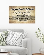 NEWFOUNDLAND LABRADORS PLACE YOUR HEART REMAINS 24x16 Poster poster-landscape-24x16-lifestyle-01