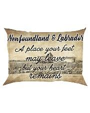NEWFOUNDLAND LABRADORS PLACE YOUR HEART REMAINS Rectangular Pillowcase thumbnail