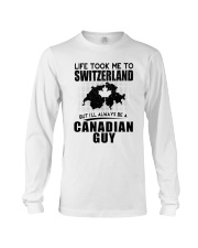 CANADIAN GUY LIFE TOOK TO SWITZERLAND Long Sleeve Tee thumbnail