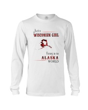 WISCONSIN GIRL LIVING IN ALASKA WORLD Long Sleeve Tee thumbnail