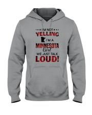 I'M NOT YELLING I'M A MINNESOTA GIRL Hooded Sweatshirt thumbnail