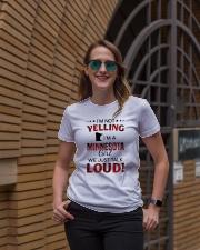 I'M NOT YELLING I'M A MINNESOTA GIRL Ladies T-Shirt lifestyle-women-crewneck-front-2