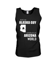 JUST AN ALASKA GUY LIVING IN ARIZONA WORLD Unisex Tank thumbnail