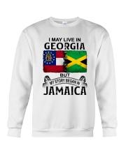 LIVE IN GEORGIA BEGAN IN JAMAICA Crewneck Sweatshirt thumbnail