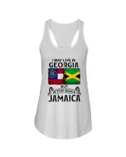 LIVE IN GEORGIA BEGAN IN JAMAICA Ladies Flowy Tank thumbnail