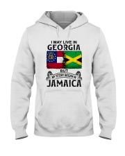 LIVE IN GEORGIA BEGAN IN JAMAICA Hooded Sweatshirt thumbnail