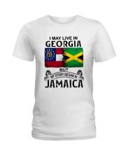 LIVE IN GEORGIA BEGAN IN JAMAICA Ladies T-Shirt thumbnail