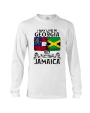 LIVE IN GEORGIA BEGAN IN JAMAICA Long Sleeve Tee thumbnail