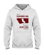 CALIFORNIA GIRL LIVING IN MONTANA WORLD Hooded Sweatshirt thumbnail