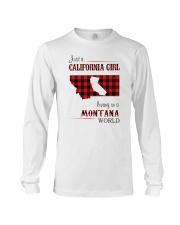 CALIFORNIA GIRL LIVING IN MONTANA WORLD Long Sleeve Tee thumbnail