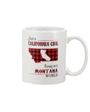 CALIFORNIA GIRL LIVING IN MONTANA WORLD Mug thumbnail