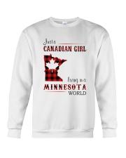 CANADIAN GIRL LIVING IN MINNESOTA WORLD Crewneck Sweatshirt thumbnail