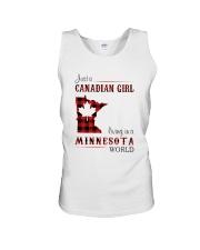 CANADIAN GIRL LIVING IN MINNESOTA WORLD Unisex Tank thumbnail