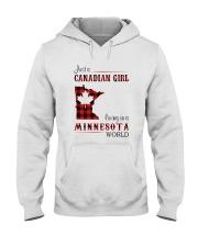 CANADIAN GIRL LIVING IN MINNESOTA WORLD Hooded Sweatshirt thumbnail
