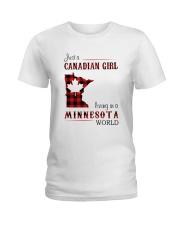 CANADIAN GIRL LIVING IN MINNESOTA WORLD Ladies T-Shirt thumbnail