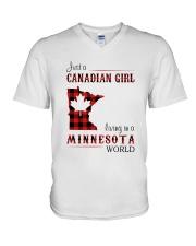 CANADIAN GIRL LIVING IN MINNESOTA WORLD V-Neck T-Shirt thumbnail