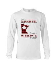 CANADIAN GIRL LIVING IN MINNESOTA WORLD Long Sleeve Tee thumbnail