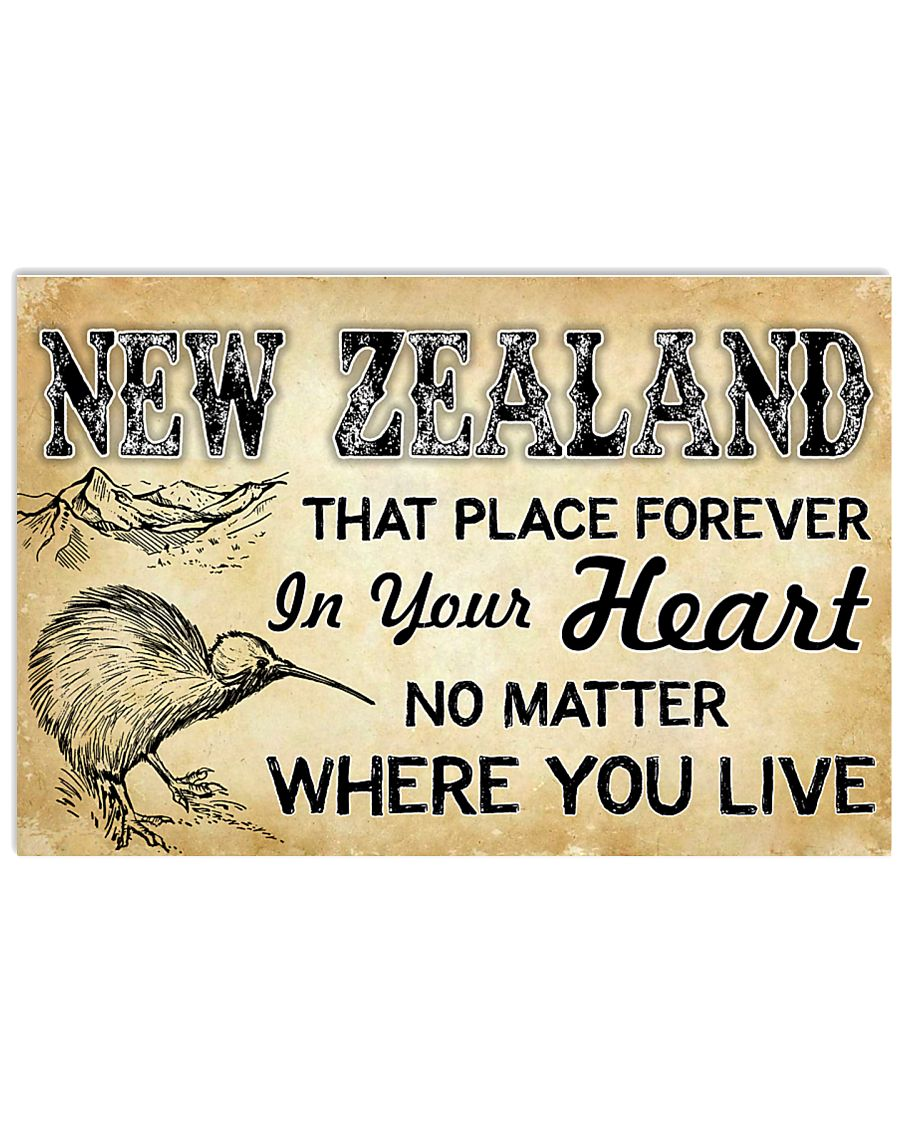NEW ZEALAND THAT PLACE FOREVER IN YOUR HEART 17x11 Poster