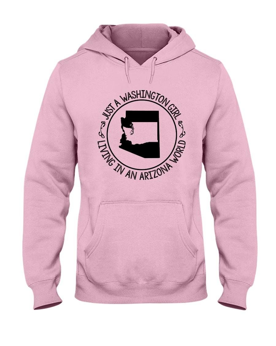 WASHINGTON GIRL LIVING IN ARIZONA WORLD Hooded Sweatshirt