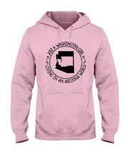 WASHINGTON GIRL LIVING IN ARIZONA WORLD Hooded Sweatshirt front