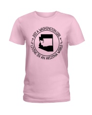 WASHINGTON GIRL LIVING IN ARIZONA WORLD Ladies T-Shirt thumbnail