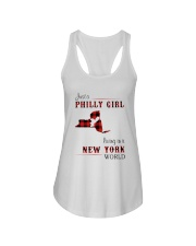 PHILLY GIRL LIVING IN NEW YORK WORLD Ladies Flowy Tank thumbnail