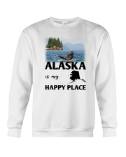 ALASKA IS MY HAPPY PLACE Crewneck Sweatshirt thumbnail