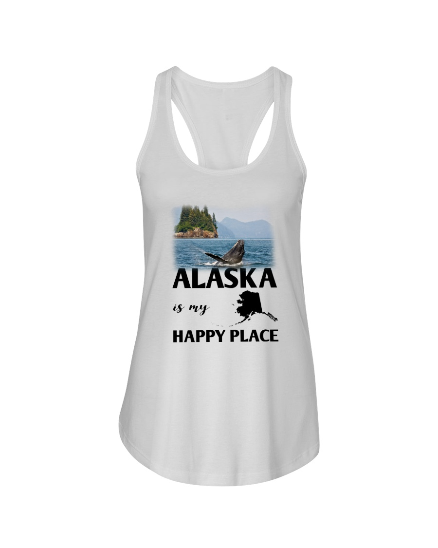 ALASKA IS MY HAPPY PLACE Ladies Flowy Tank