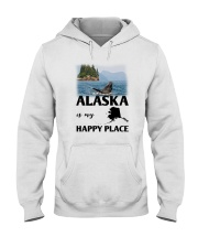 ALASKA IS MY HAPPY PLACE Hooded Sweatshirt thumbnail