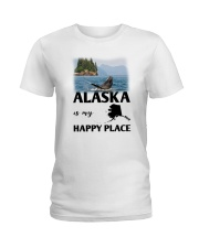 ALASKA IS MY HAPPY PLACE Ladies T-Shirt thumbnail