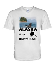 ALASKA IS MY HAPPY PLACE V-Neck T-Shirt thumbnail