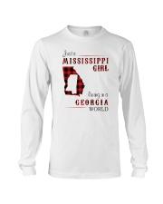 MISSISSIPPI GIRL LIVING IN GEORGIA WORLD Long Sleeve Tee thumbnail