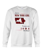 NEW YORK GIRL LIVING IN IOWA WORLD Crewneck Sweatshirt thumbnail