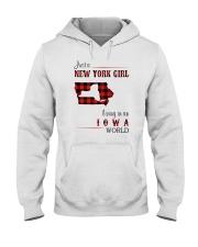 NEW YORK GIRL LIVING IN IOWA WORLD Hooded Sweatshirt thumbnail