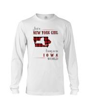 NEW YORK GIRL LIVING IN IOWA WORLD Long Sleeve Tee thumbnail