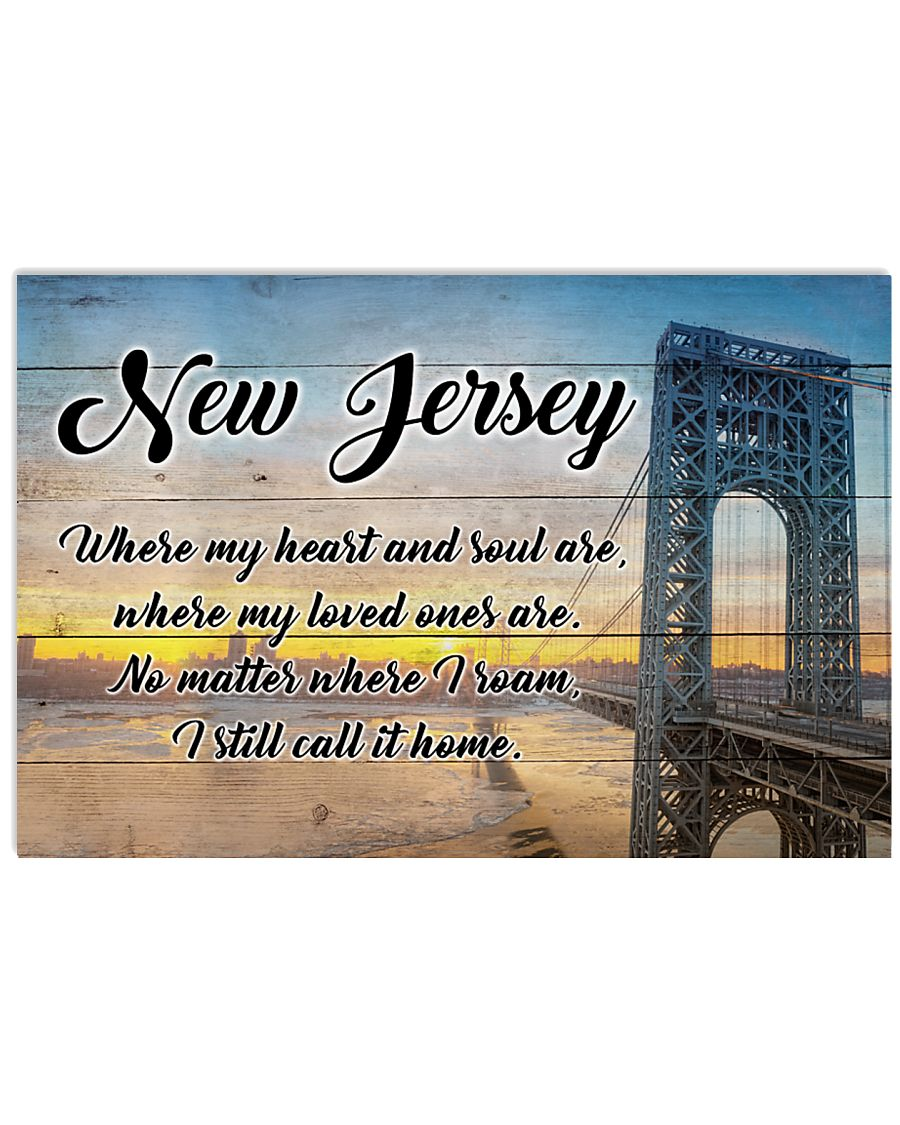 NEW JERSEY WHERE MY LOVED ONES ARE 24x16 Poster
