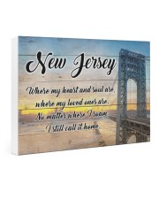 NEW JERSEY WHERE MY LOVED ONES ARE 24x16 Gallery Wrapped Canvas Prints thumbnail