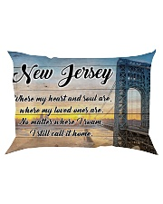 NEW JERSEY WHERE MY LOVED ONES ARE Rectangular Pillowcase thumbnail