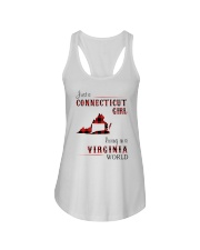 CONNECTICUT GIRL LIVING IN VIRGINIA WORLD Ladies Flowy Tank thumbnail