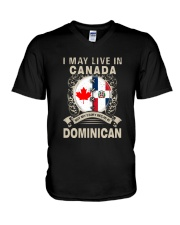 LIVE IN CANADA MY STORY IN DOMINICAN V-Neck T-Shirt thumbnail