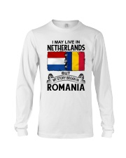 LIVE IN NETHERLANDS BEGAN IN ROMANIA ROOT WOMEN Long Sleeve Tee thumbnail