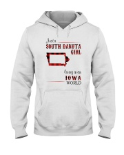 SOUTH DAKOTA GIRL LIVING IN IOWA WORLD Hooded Sweatshirt thumbnail
